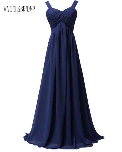 30fe1acccf ANGELSBRIDEP Long New Bridesmaid Dresses Under 50 Long Chiffon Spaghetti  Straps Special Occasion Party Formal Gowns