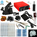 OPHIR Beginning One Machine Tattoo Kit with Tattoo Power Supply Nozzle Needle for Beginners_TA114