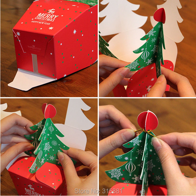Image 3 - Merry Christmas tree Gift Box ,Cookie Cholocate Food Paper Boxes,Christmas Apple Box, Christmas Gift Box 30pcs/lot-in Gift Bags & Wrapping Supplies from Home & Garden