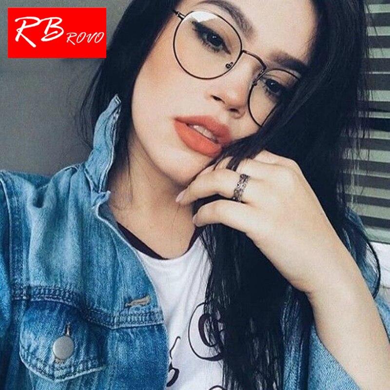 RBROVO 2019 Fashion Metal Sunglasses Women Vintage Brand Designer Mirror  Flat Round Glasses Street Beat Oculos 394bbc9872