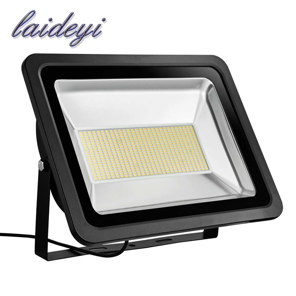 LAIDEYI high power led flood light 100w 150w 200w 300w 220VAC SMD IP65 waterproof best outdoor led floodlights with dhl shipping все цены