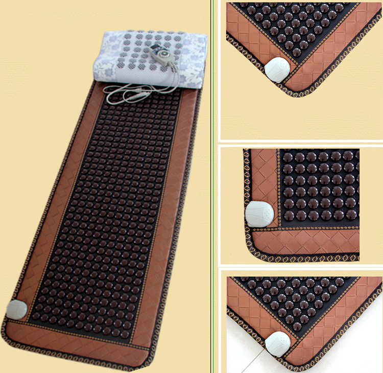 Electric Heating Pad Germanium Stone Sofa Cushion Jade Tourmaline Mat Heating Far Infrared Health Cushion 50cmX150cm pop relax tourmaline health products prostate massager for men pain relief 3 balls germanium stone far infrared therapy heater