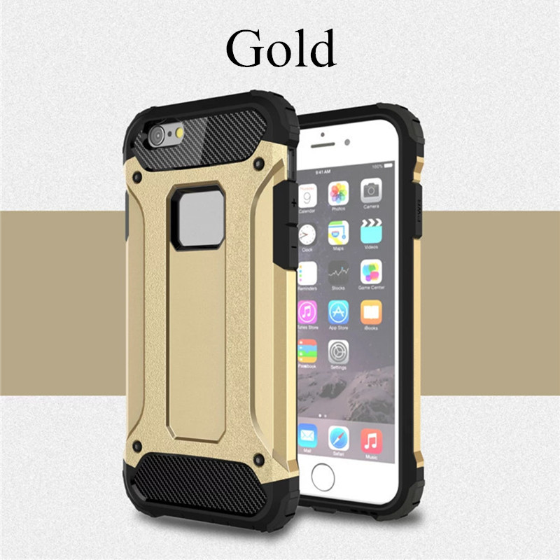 For iPhone X Case Shockproof Hybrid PC Armor Anti-Shock Silicone Back Cover For iphone 5 5s SE 6 6s 7 8 plus Rugged Case Cover