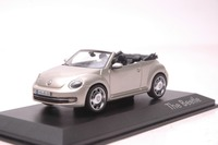 1 43 Diecast Model Car For Volkswagen VW Beetle Cabriolet Gold Alloy Toy Car Collection