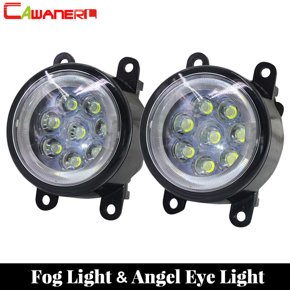 Cawanerl 2 Pieces Car Styling LED Lamp Fog Light Angel Eye Daytime Running Light DRL 12V High Bright For 2004-2015 Citroen C5 top quality guiding light design led drl daytime running light for citroen c5 2013 2014 super bright fast shipping