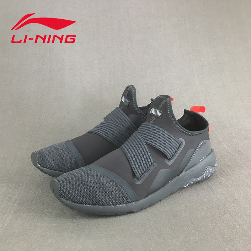 Li Ning Men Walking Shoes Textile Upper Breathable Sneakers Soft Comfort LiNing Sports Shoes GLKM083