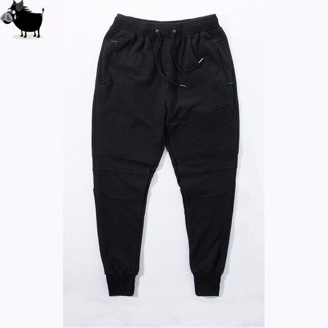Fashion Biker Jogging Slim Fit Skinny Pantaloni Della Tuta Harem Pants Uomo  Hip Hop Refurtiva Vestiti 598c6fff0c84