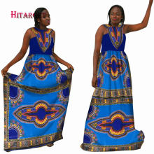 Hitarget 2017 New Fashion Design Traditional African Clothing Print Dashiki Special Neck Design African Dresses for Women WY2097
