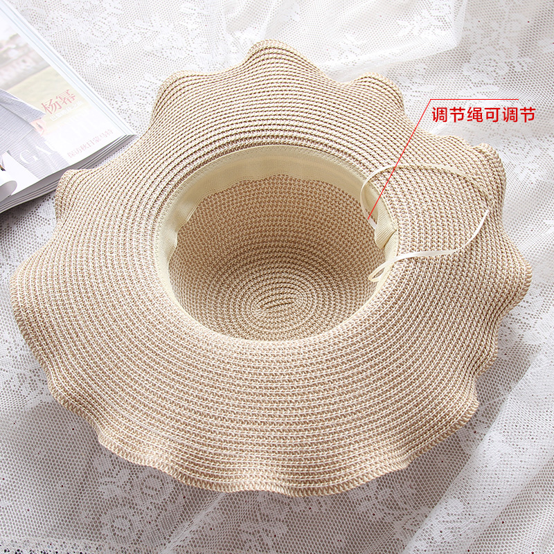 Caliente de Moda tejidos De Paja de Ala Ancha Dom sombrero para el ...