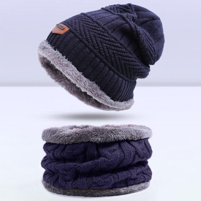 Evrfelan, комплект из двух предметов, зимняя шапка и шарф для мужчин, зимние шапочки, шарфы, мужские зимние комплекты, толстый хлопок, теплые зимние аксессуары - Цвет: F
