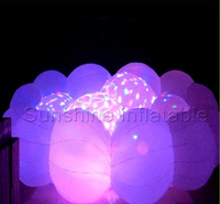 Giant inflatable cloud with LED lights, lighting inflatable cloud balloon for christmas event party ceiling decorations