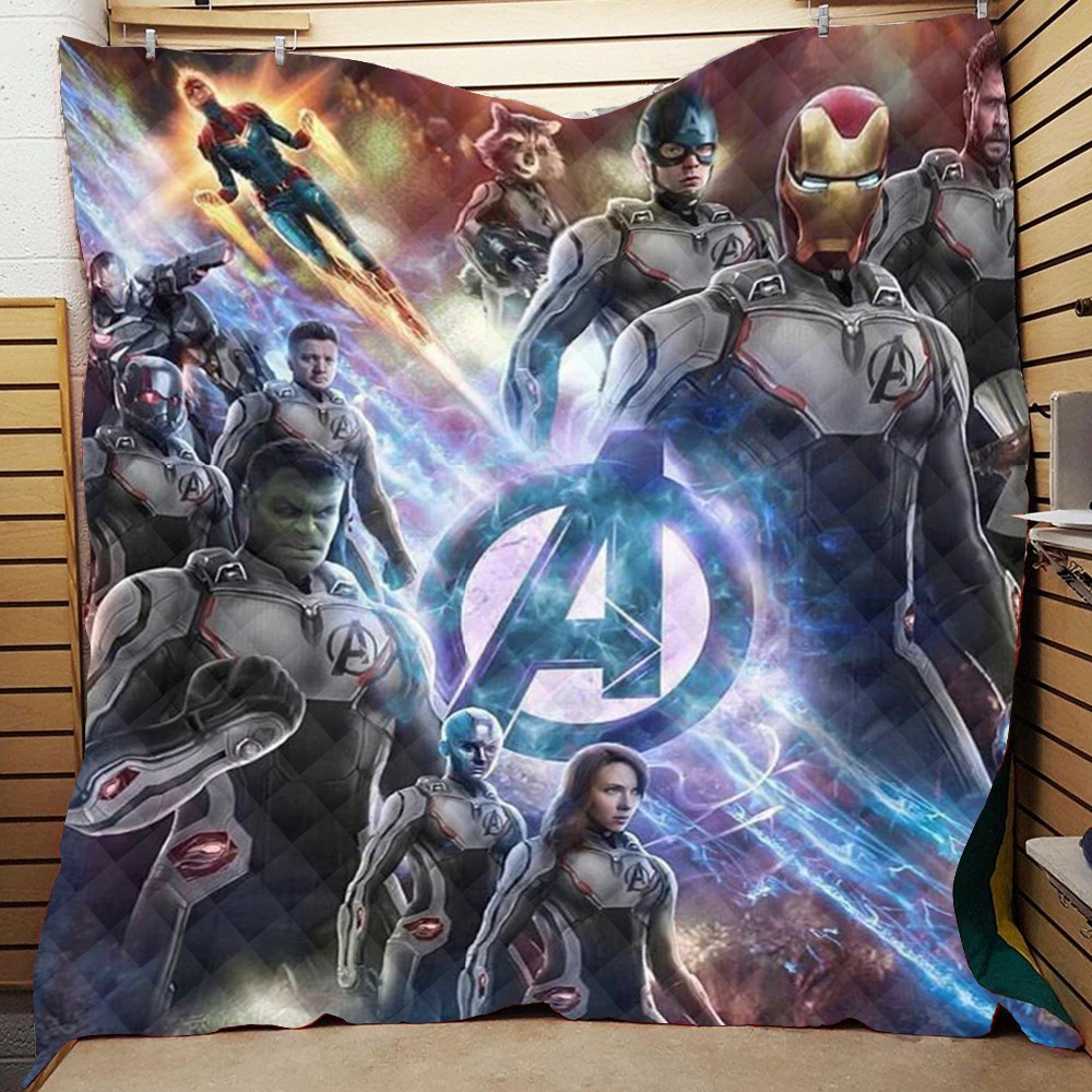Summer 3D Avengers: Endgame Quilt Blanket For Kids Adults Bedding Throw Soft Warm Thin Blanket  With Cotton Quilt King SizeSummer 3D Avengers: Endgame Quilt Blanket For Kids Adults Bedding Throw Soft Warm Thin Blanket  With Cotton Quilt King Size