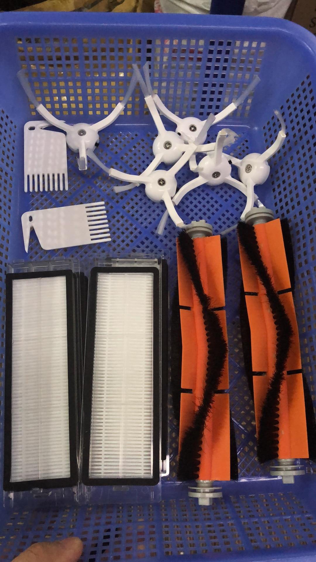 5 ensembles 6 x brosse latérale + 4x filtre HEPA + 2x brosse principale adapté pour xiaomi aspirateur 2 roborock s50 xiaomi roborock xiaomi mi Robo