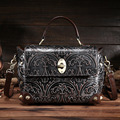 Women's Genuine Leather Small Handbag Retro Fashion Messenger Cross body Bag