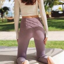 Colorvalue ремешками милые спортивные Леггинсы черные беговые femme yoga Штаны Высокая талия Пластика управления красные спортивные штаны женские