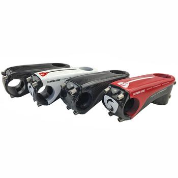 Mostek węglowy sport rozrywka kolarstwo części rowerowe wspornik rowerowy akcesoria rowerowe 80 90 100 110mm 28 6mm 3k połysk 6 stopni tanie i dobre opinie 46-55mm superlogic 31 1-32 5mm Z włókna węglowego carbon stem bicycle stem 3k gloss