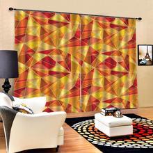Затемненная занавеска желтая занавеска s для гостиной спальни 3D занавеска Роскошная затемненная оконная занавеска для гостиной