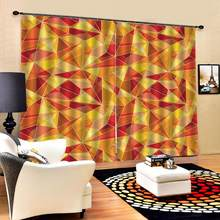 Blackout curtain yellow curtains for living room bedroom 3D Curtain Luxury Blackout Window Curtain Living Room(China)
