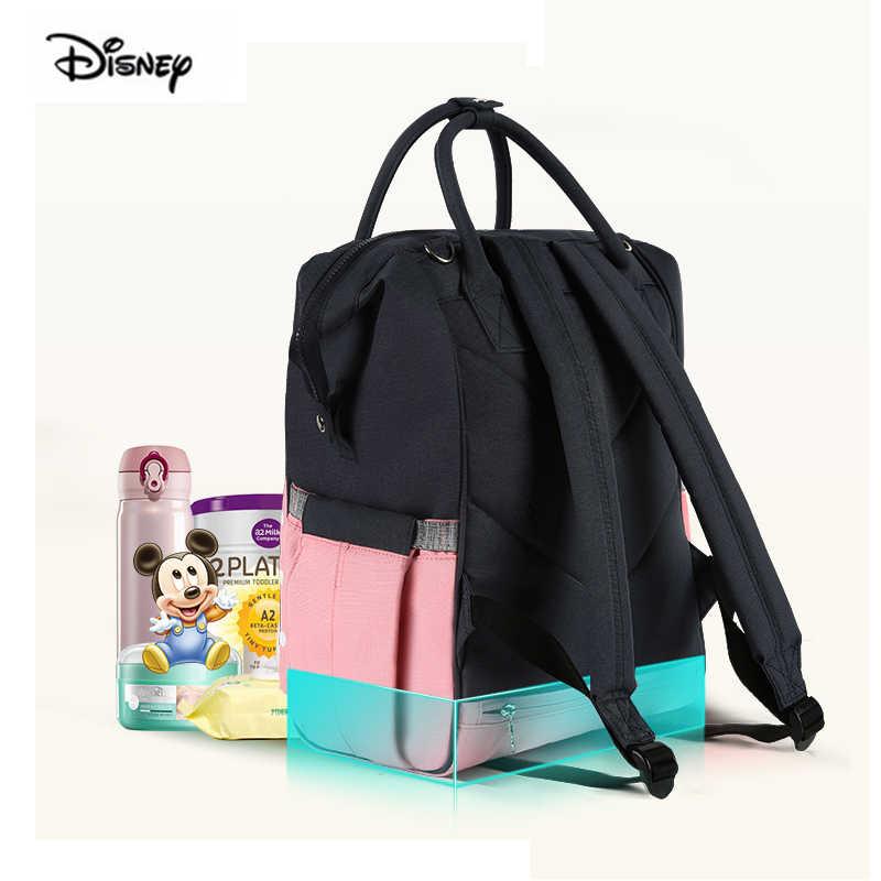 Disney Minnie mode mère sac grande capacité USB chauffage isolation rose couche-culotte sac à dos bébé sac pour maman livraison directe