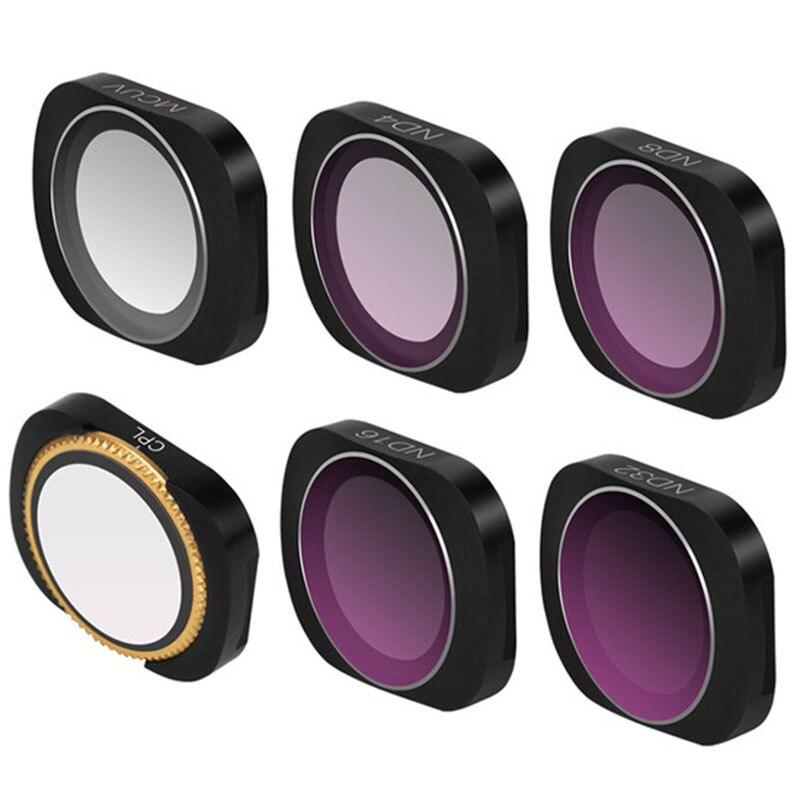 Filtre de caméra de poche Osmo Cpl/Uv/Nd 4 8 16 32 64 filtres à densité neutre pour accessoires de lentilles en verre optique de poche Osmo