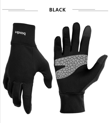 para Mulheres dos Homens Luvas de Fitness Luvas de Microfibra Luvas de Tela de Toque Anti-slip Boodun Quente Lycra