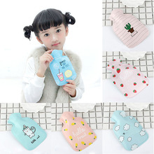 Mini Hot Water Bottles Small Portable Hand Warmer Water Injection Storage Bag Tools Cartoon Hand Po Warm Water Bottle Cute V3726