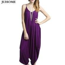 2017 женские фиолетовые Свободные Спагетти ремень без рукавов Club комбинезон один кусок комбинезоны большой Размеры наряды женский штаны-шаровары комбинезоны
