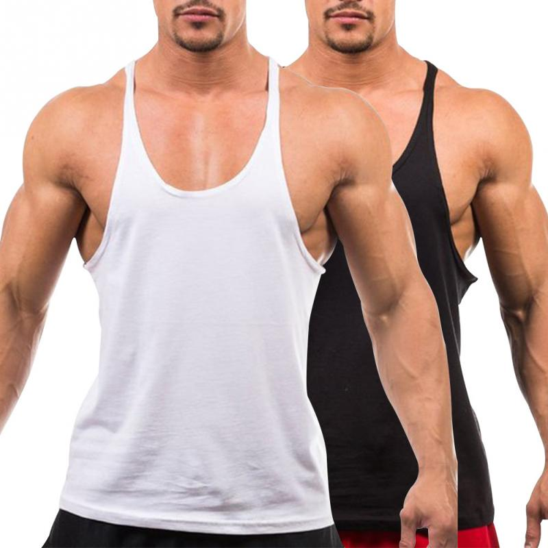 Men's Vest Gyms Clothing Fitness Shirt Man Bodybuilding Stringers Tank Tops Workout Singlet Sleeveless Tee Wholesale
