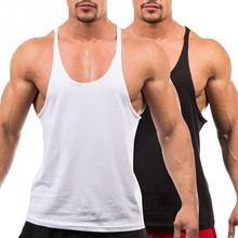 bfc2422ef0aaa5 Men s Vest Gyms Clothing Fitness Shirt Man Bodybuilding Stringers Tank Tops  Workout Singlet Sleeveless Tee Wholesale
