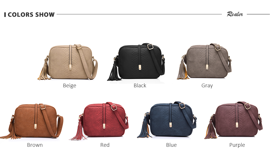 REALER brand small shoulder bag for women messenger bags ladies PU leather handbag purse tassels female crossbody bag women 2019 9