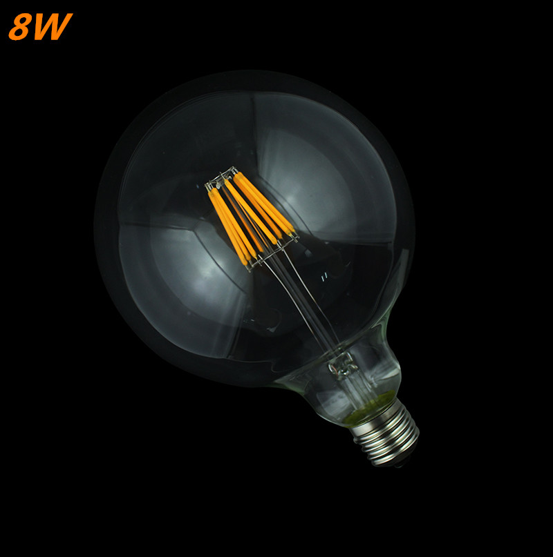 4W/6W/8W filament led bulb Edison Led Filament Bulb G125 Big Global light bulb E27 clear glass indoor lighting lamp AC220V edison led filament bulb g125 big global light bulb 2w 4w 6w 8w led filament bulb e27 clear glass indoor lighting lamp ac220v