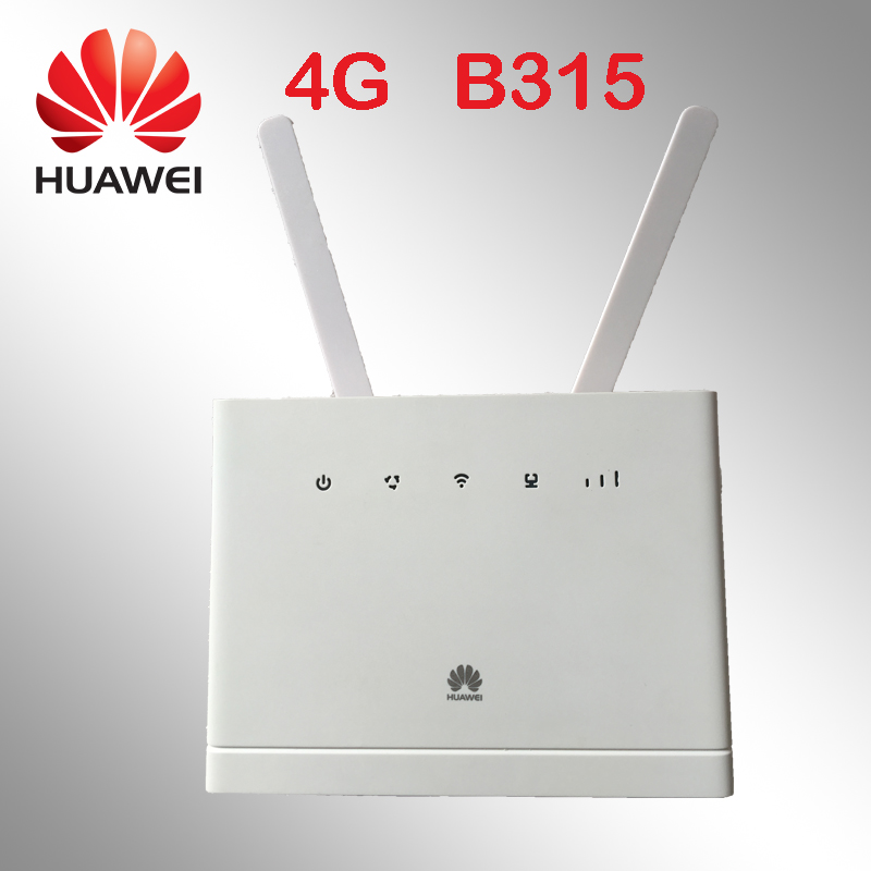 Huawei Débloqué B315 4g/LTE Mobile Wi-Fi Routeur Hotspot 150 Mbps Blanc B315s-607 pk b593 b880 b890 e5172 e5186
