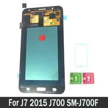 Новый AMOLED ЖК-дисплей для samsung Galaxy J7 2015 J700 SM-J700F J700H J700M J700H/DS ЖК-дисплей Дисплей Сенсорный экран планшета Ассамблеи