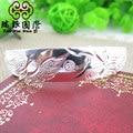 S990 fine silver jewelry dragon and Phoenix silver bracelet width Womens jewelry Korean jewelry