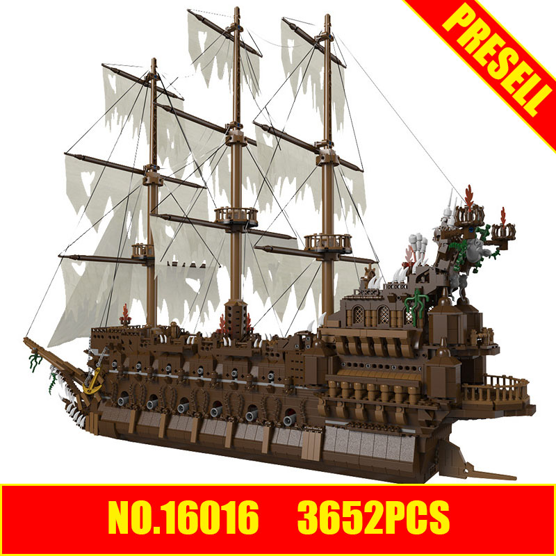 DIVERSION 16016 lepin 3652Pcs MOC Movies Series The Flying the Netherlands Set Building Blocks Bricks Educational