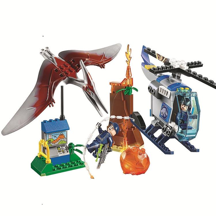 10918 Pteranodon Escape Jurassic Dinosaur World Bricks Building Block Toys Compatible With Sermoido 10756 in Blocks from Toys Hobbies