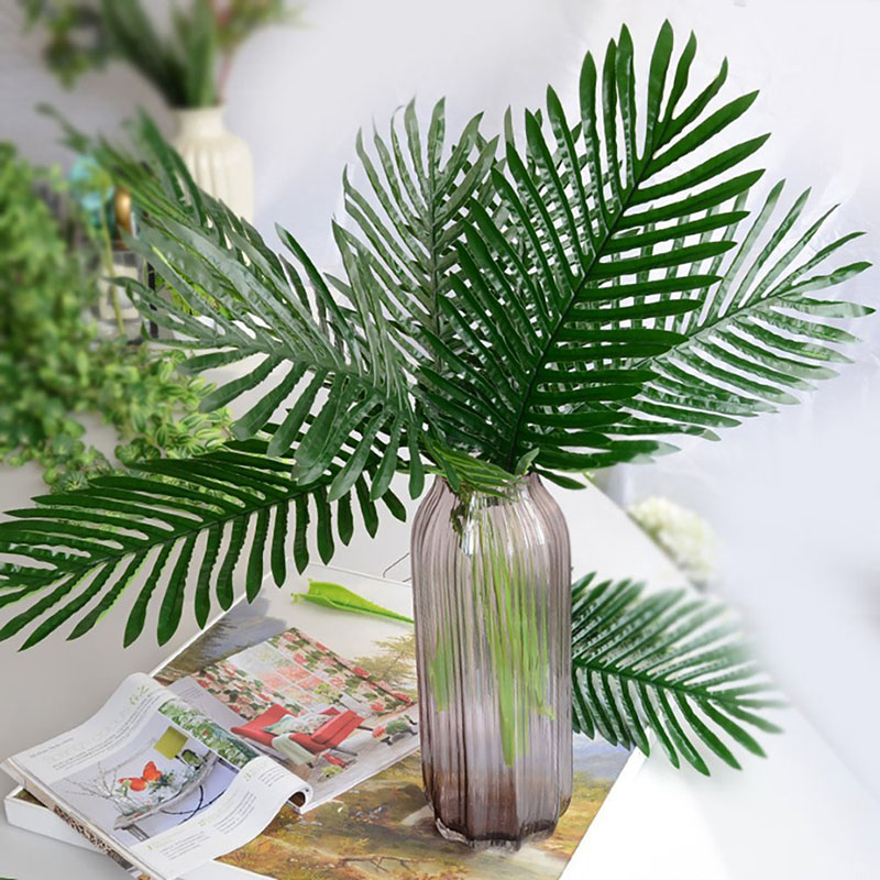 Hawaii Jungle Artificial Tropical Palm Leaves Hawaiian Luau Party Decorations Beach Flamingo Wedding Party Home Garden Decor