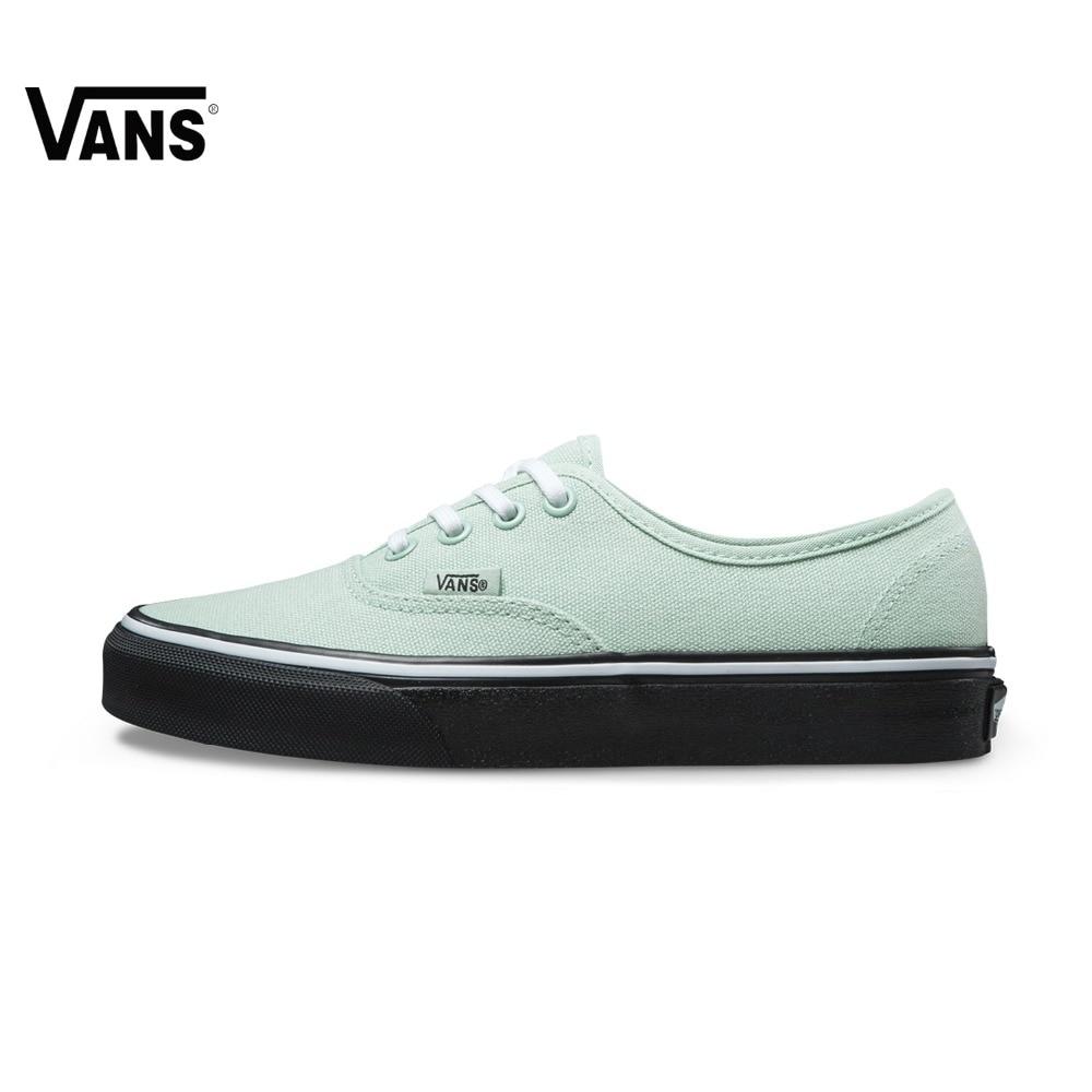Original Vans New Arrival Green Color Low-Top Women's Skateboarding Shoes Sport Shoes Sneakers Vans Shoes original vans black and blue gray and red color low top men s skateboarding shoes sport shoes sneakers