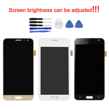 Zerosky AMOLED LCD For Samsung Galaxy J3 2016 LCD Display Digitizer Touch Screen Assembly Brightness Adjustment