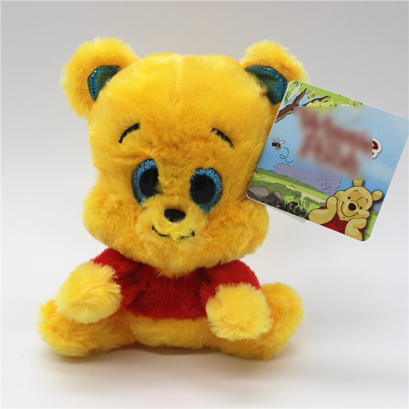 Бесплатная доставка сидя 15 см желтый Cub Винни Медвежонок чучела Животные плюшевые игрушки мягкие детские куклы для мальчика и для девочек п...