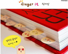 New Stationery Novelty Fingers With Expressions Bookmark Memo Pad Note Paper Stickers For Girls