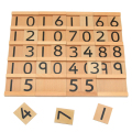 Baby Toys Montessori Educational Wooden Toys Digit Cognitive Math Toy 29.5*6.5*5CM Teaching Logarithm