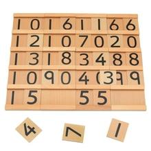 Игрушки для маленьких Детей Монтессори Образовательные Деревянные Игрушки Цифра Когнитивная Математика Игрушки 29.5*6.5*5 СМ Преподавание Логарифм
