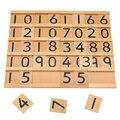 Brinquedos Montessori Educativos Brinquedos De Madeira do bebê Dígitos Cognitiva Math Toy 29.5*6.5*5 CM Ensinando Logaritmo