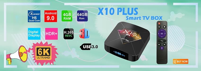 Boîtier TV intelligent MX10 PRO 6 K Android 9 0 Allwinner H6
