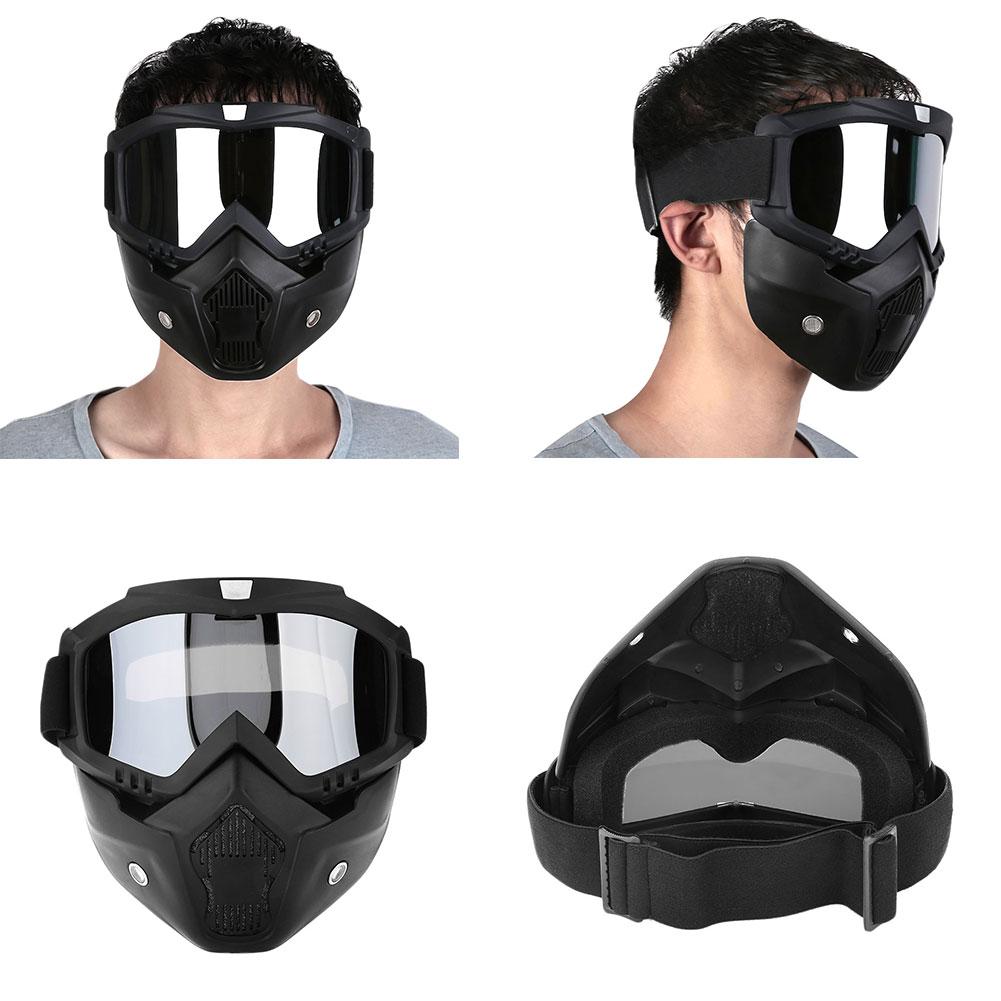 Съемный модульный мотоциклетный шлем для езды на мотоцикле маска с фильтром для лица - Цвет: silver color