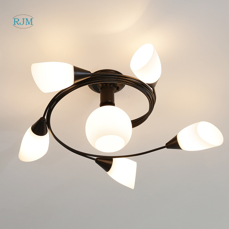 American Simple Living Room Led Ceiling Lamp Warm Romantic Main Bedroom Wedding Room Lamp Creative Personality Study LightingAmerican Simple Living Room Led Ceiling Lamp Warm Romantic Main Bedroom Wedding Room Lamp Creative Personality Study Lighting