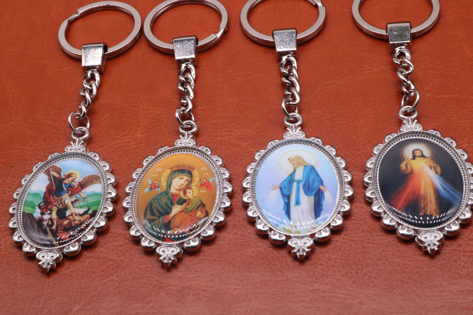 Silver Charm Mary Key, Jesus Keychain Key, Michael Angel Keychain, Handbag Gift Accessories ...