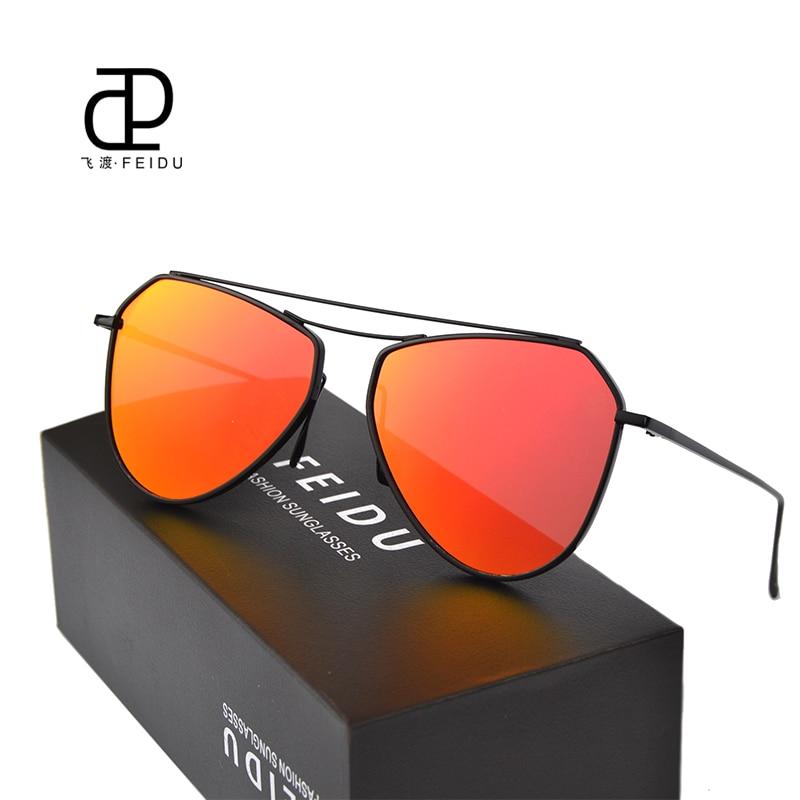 6dcaef770 Feidu الأزياء الساخن بيع النساء الرجال طلاء شمسية المشاهير نفس الفقرة مضلع  طلاء نظارات الشمس مع مربع