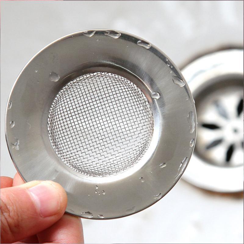 7.5cm Useful Kitchen Stainless Steel Sewer Sink Strainer Filter Drain Waste Clean Sink Strainer